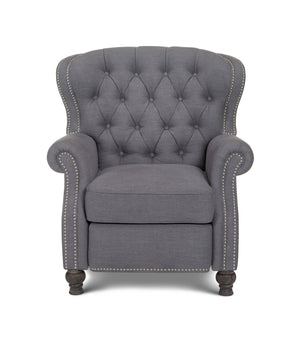 Opulence Home Cambridge Linen Recliner in Samantha Grey samgry