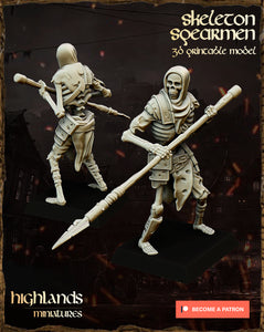 Skeleton Spearmen (4 units)
