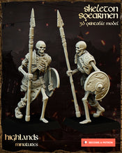Load image into Gallery viewer, Skeleton Spearmen (4 units)