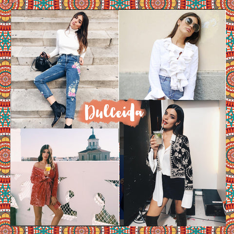 Top 10 Spanish bloggers to follow Dulceida - Blog IBIZA PASSION boho chic luxe online store fashion jewelry jewels