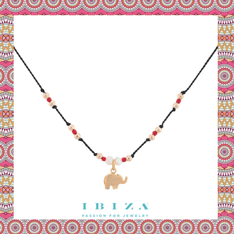 Eelephant Choker Amulet red pearls - Blog IBIZA PASSION boho chic luxe fashion jewelry jewels online store