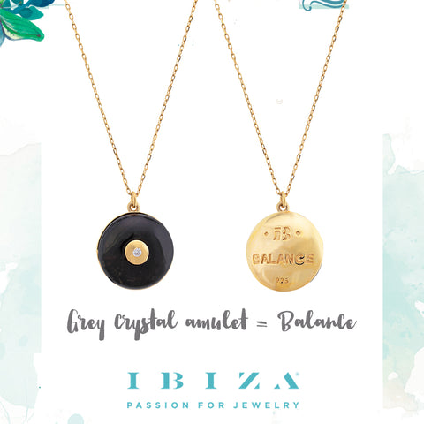 amulet grey balance - blog IBIZA PASSION - crystal boho chic luxe fashion jewelry jewels shop online