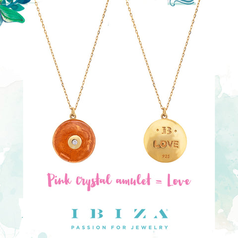 amulet pink love necklace - blog IBIZA PASSION - crystal boho chic luxe fashion jewelry jewels shop online