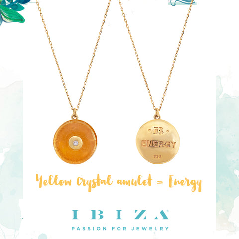 amulet energy yellow necklace - blog IBIZA PASSION - crystal boho chic luxe fashion jewelry jewels shop online