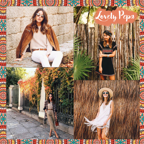 Top 10 Spanish bloggers to follow LOVELY PEPA - Blog IBIZA PASSION boho chic luxe online store fashion jewelry jewels