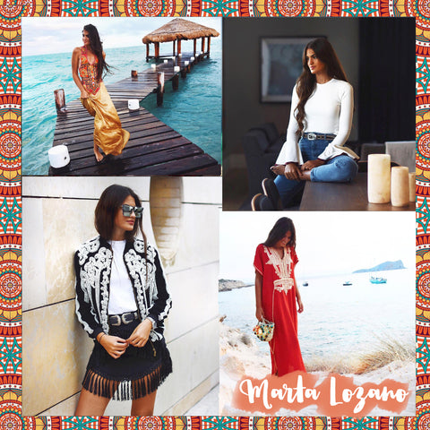 Top 10 Spanish bloggers to follow Marta Lozano - Blog IBIZA PASSION boho chic luxe online store fashion jewelry jewels