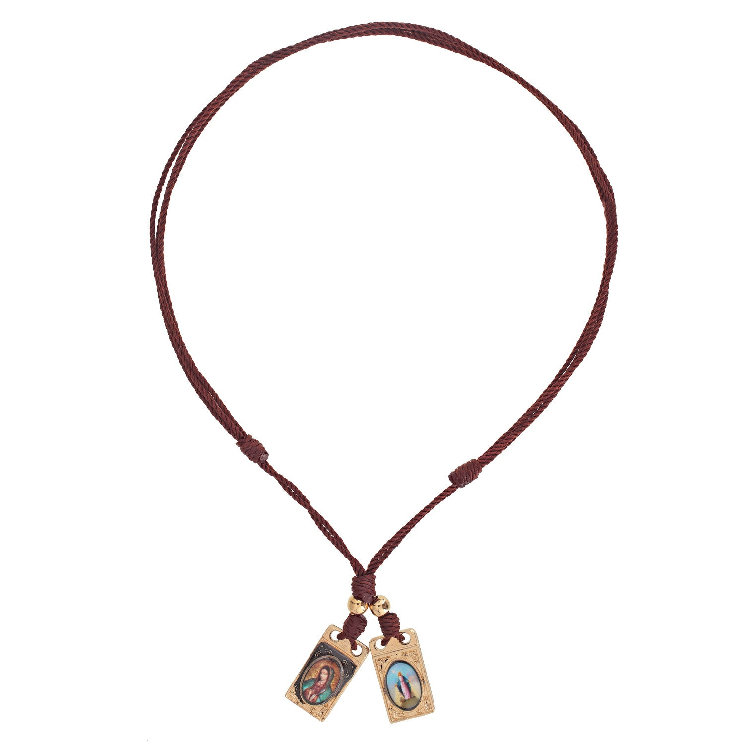 gift listing religious catholic necklace brown scapular il
