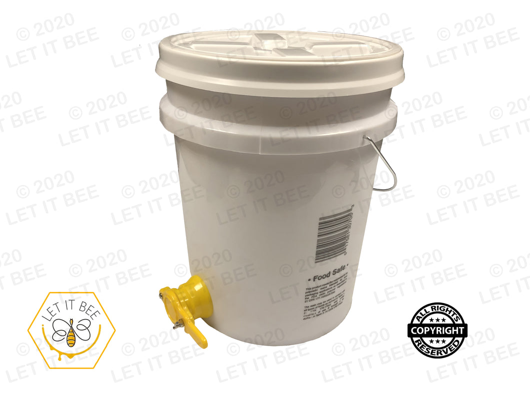 5 Gallon Pail with Standard Lid and Gate Spout