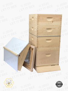10 Frame Traditional Growing Apiary Kit w/ Gable Ventilated Telescoping Cover - Wood Frames