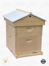 Load image into Gallery viewer, 10 Frame Complete Hive Kit Combo w/ Gable Ventilated Telescoping Cover  - Wood Frames