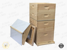 Load image into Gallery viewer, 10 Frame Traditional Growing Apiary Kit w/ Gable Ventilated Telescoping Cover - Wood Frames