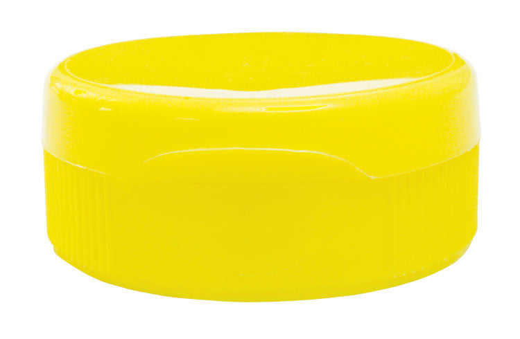 Yellow Lids For Plastic Jars - 38mm 24 pack
