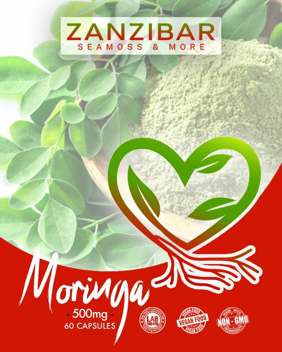 Zanzibar Moringa Pack (60ct) (1 Month Supply)-Powder-Zanzibar Seamoss & More