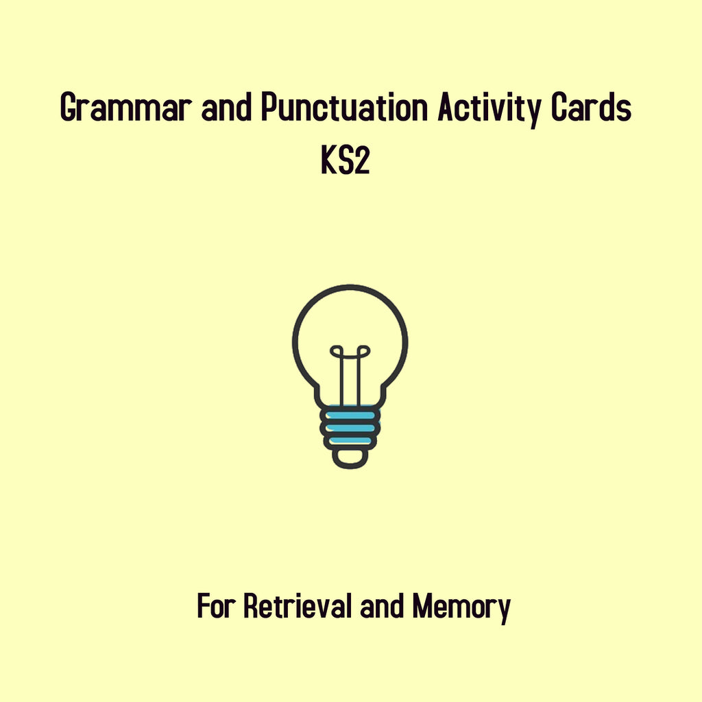 KS2 Retrieval Cards- Grammar and Punctuation