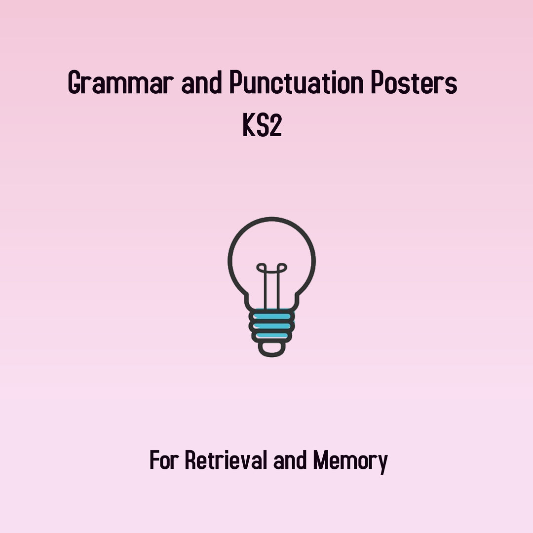 KS2 Grammar and Punctuation Posters