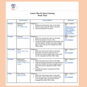 Home Learning- Week Three
