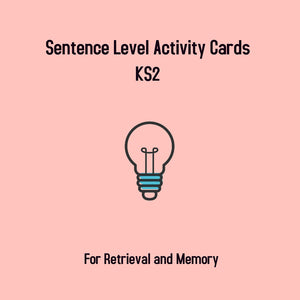 KS2 Retrieval Cards- Sentence Level