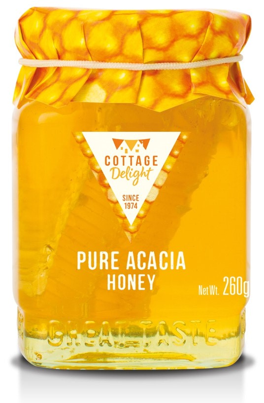 PURE ACACIA HONEY WITH CUT COMB 260g