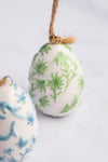 CERAMIC PRINTED EGG DECORATIONS