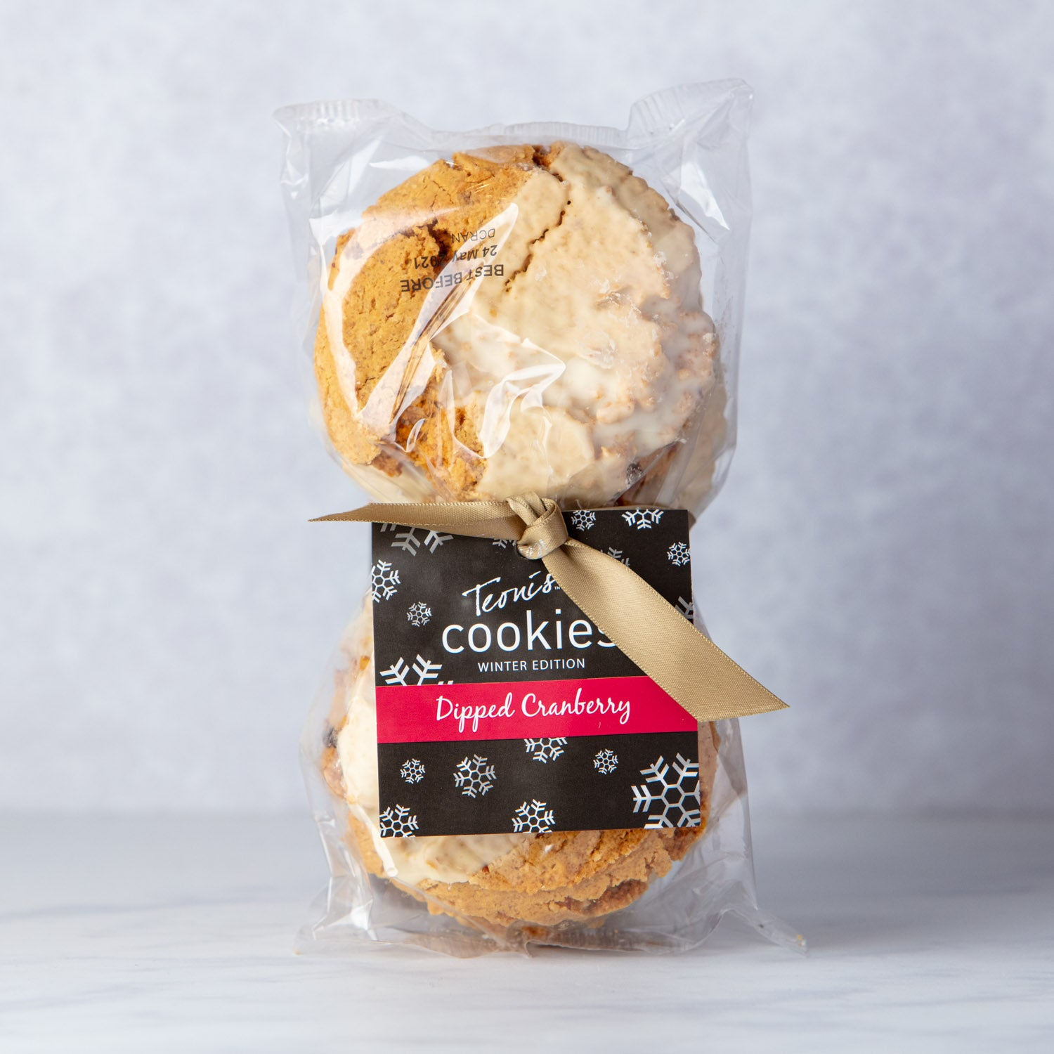 TEONI'S DIPPED CRANBERRY COOKIES