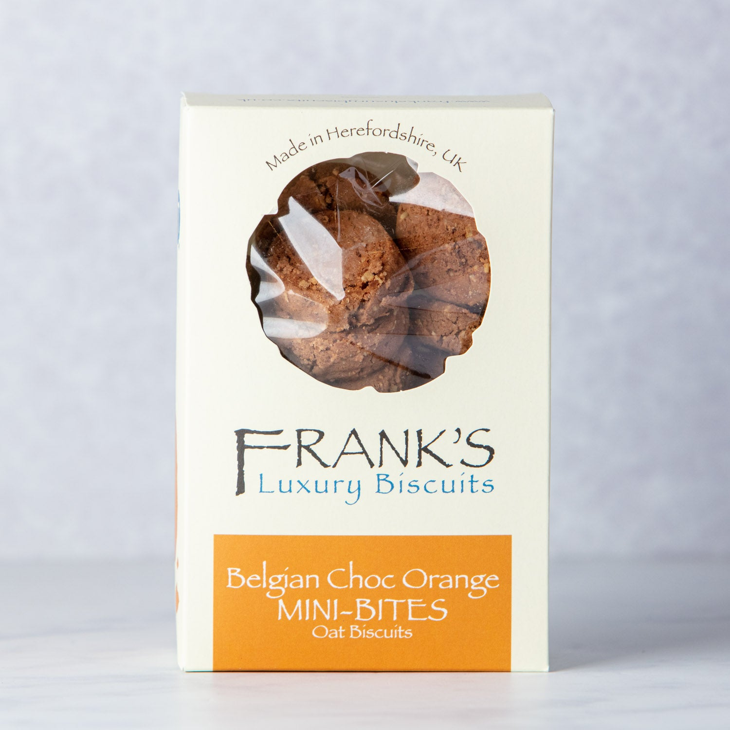 FRANKS BELGIAN CHOC ORANGE MINI OAT BISCUITS