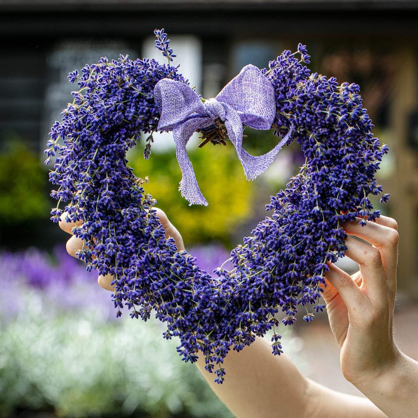 Lavender Heart Wreath DIY KIT