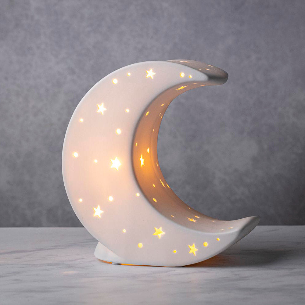 CERAMIC MOON NIGHT LIGHT