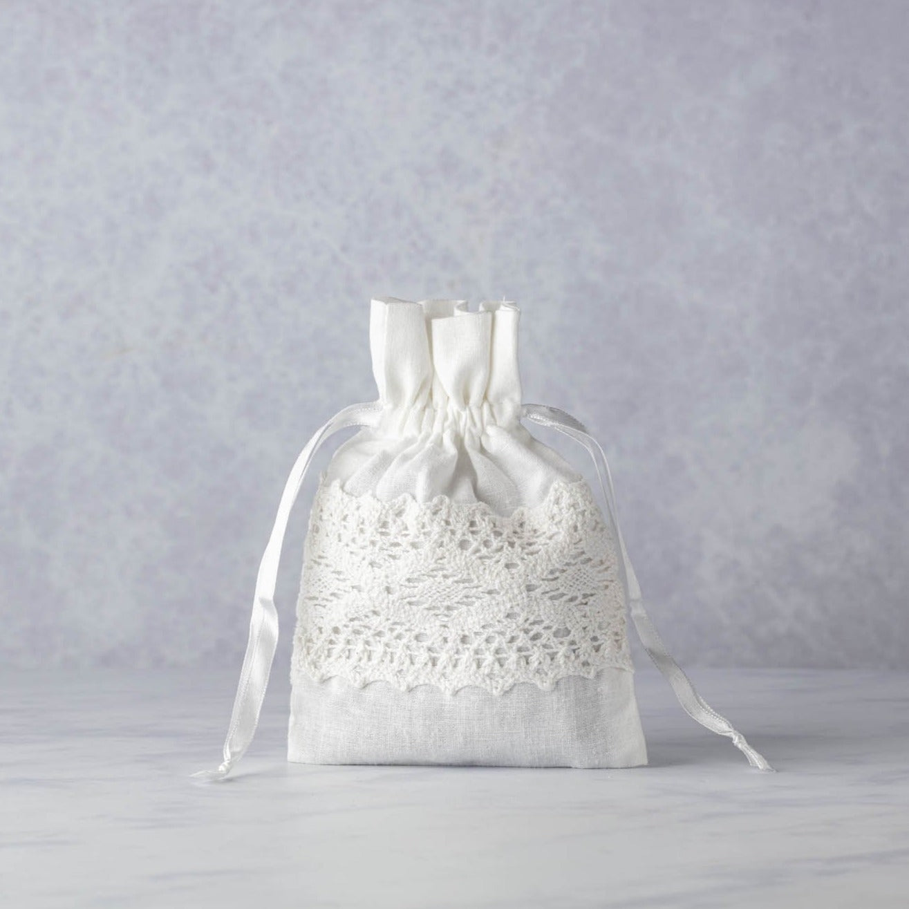 Lavandin White Embroidered Bag