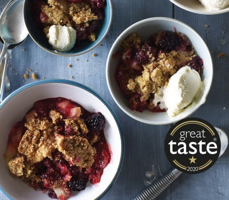 COOK APPLE & BLACKBERRY CRUMBLE (Serves 2)