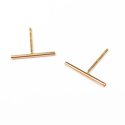 Thin Line Stud Earrings