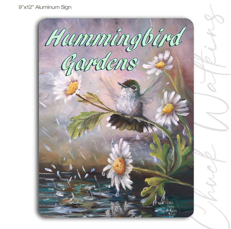 Hummingbird Gardens Sign