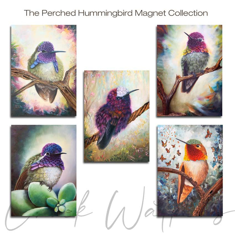 Perched Hummingbird Magnet Collection