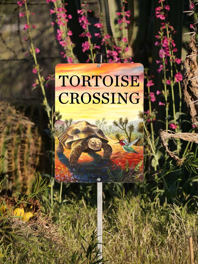 Tortoise Crossing Sign