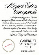 Mount Eden Vineyards Estate Cabernet Sauvignon 2015