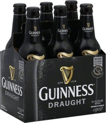 Guinness Draft Bottles, 6 Pack