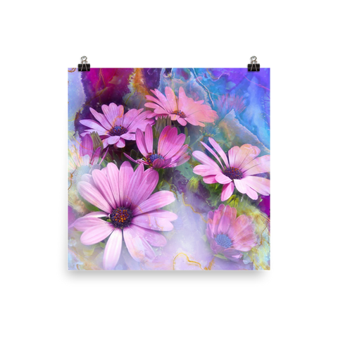 Abba's Flowers (Center) - Premium Print