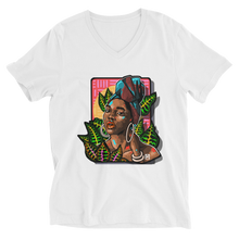 Load image into Gallery viewer, Among the leaves - Unisex Short Sleeve V-Neck T-Shirt - AllArtApparel