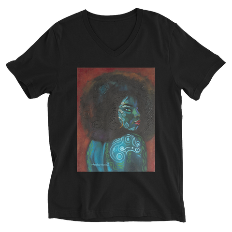 Black Beauty - Unisex Short Sleeve V-Neck T-Shirt - AllArtApparel