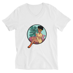Tea Time - Unisex Short Sleeve V-Neck T-Shirt - AllArtApparel