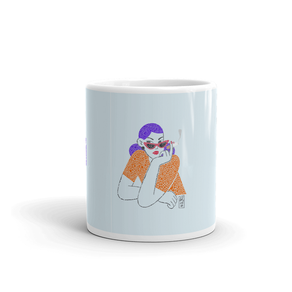 Girl With The Cigar - Mug - AllArtApparel