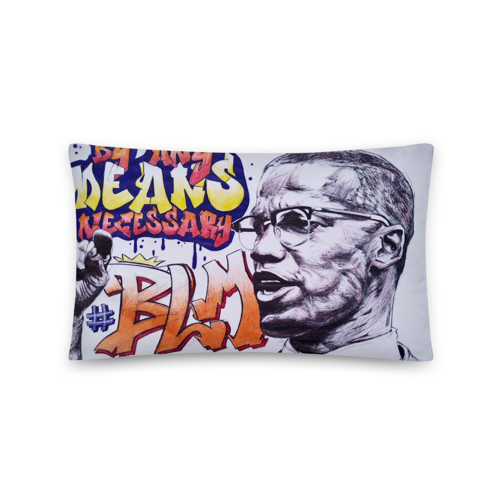 By Any Means Necessary - Throw Pillow