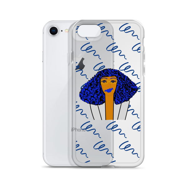 Blue Hair Chick - iPhone Case