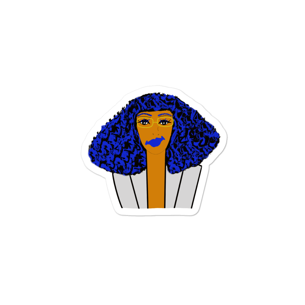 blue Hair Chick - Sticker
