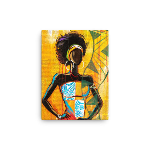 African Lady - Canvas - AllArtApparel