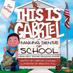 This is Gabriel Making Sense of School provides a look into the challenges children with Sensory Processing Disorder (SPD) face in the classroom. This easy-to-read and beautifully illustrated picture book gives teachers, parents, and students a better understanding of all seven senses, how they are each affected at school, and what kinds of accommodations are necessary to help children with SPD become learning sensations!