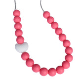 Munchables beaded chew necklaces feature our smooth, round silicone beads.