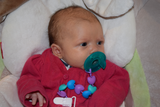 Heart Pacifier Clip - Purple/Aqua/Blue
