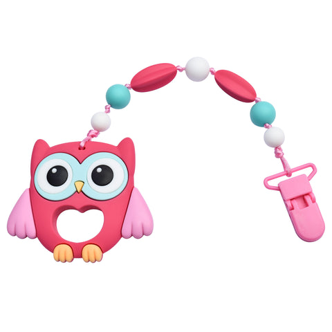 Munchables Teether featuring Large Owl with Beads