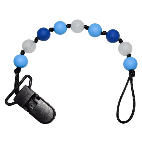 Glow-in-the-Dark Pacifier Clip - Blue
