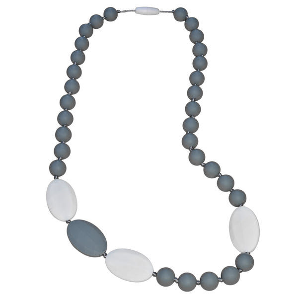 Splash of Color Necklace (Grey/White)